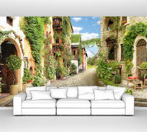Зеленая улица в итальянском городке