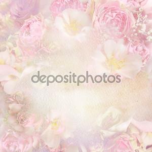 Фон с цветочной акварелью