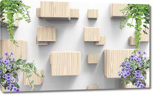 Кубы с вьющимися растениями