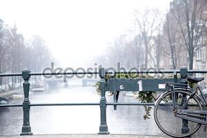 Bicycle on Amsterdam Bridge