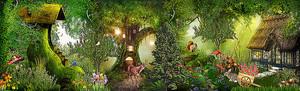 Сказочная полянка в лесу