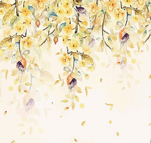 Ветки с желтыми цветами