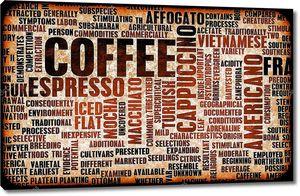 Фон из надписей о кофе