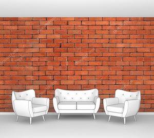 Кирпичная красная стена
