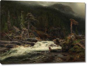 Август Каппелен. Водопад в Телемарке