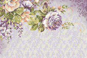 Фиолетовая цветочная композиция