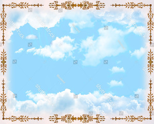 Орнамент по краям неба