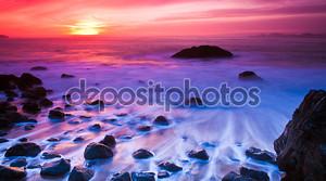 Океан закат Панорама