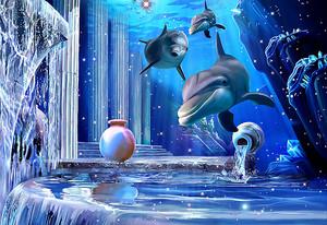 Колонны под водой