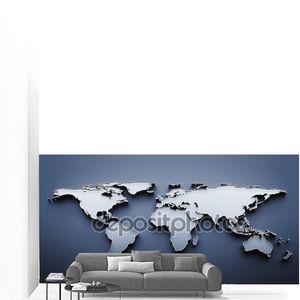 Карта мира на синем фоне