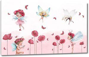 Маленькие феи с маками
