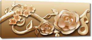 Рельефный цветок