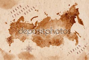 карта Россия ретро