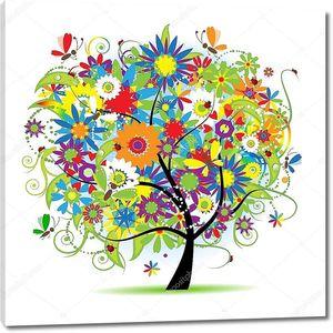 Цветочное круглое дерево