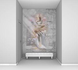Фреска с железным цветком