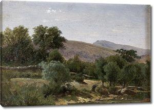 Аэс Карлос де. Пейзаж близ монастыря Пьедра (Арагон)
