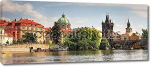 Панорамный вид на старую часть города Прага