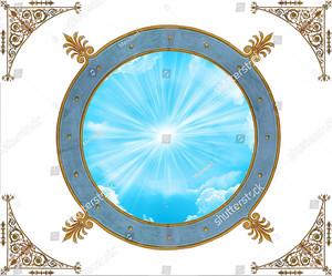 Солнце в круге с орнаментом
