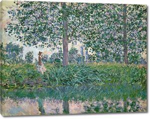 Моне Клод. Рыбалка на реке Эпте, 1887