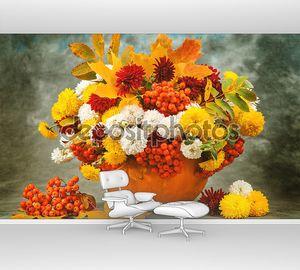 Осенний натюрморт с цветами
