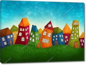 Фантастические красочные дома