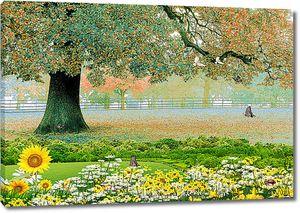 Дерево в китайском саду