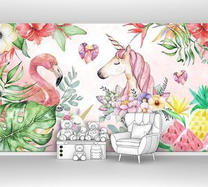 Единорог и фламинго в зарослях