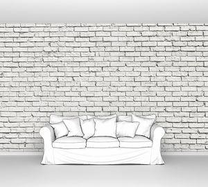 Бело-серая кирпичная стена