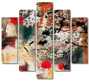 Весенний мотив абстрактный фон
