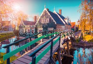 Tipical Dutch village Zaanstad