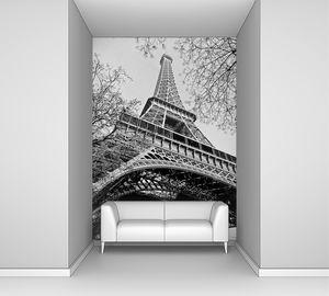 Эйфелева башня в черно белом