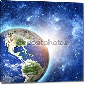 Планета Земля в пространстве