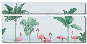 Фламинго с пальмами