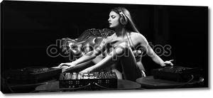 Glamour disk jockey girl