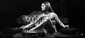 Glamour disk jockey girl