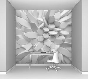 Абстрактный белый фон из геометрических полигонов
