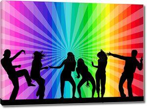 танцы силуэты