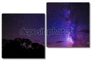 Звезды неба ночи млечного пути