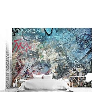 красочный фон гранж, граффити стены