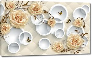 Розы бабочки и круги