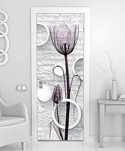 Прозрачные тюльпаны на кирпиче