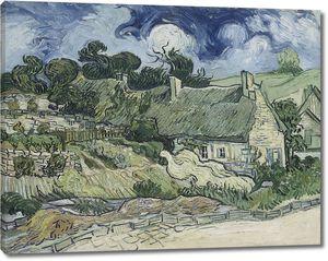 Ван Гог. Домики с соломенными крышами в Кордевилле