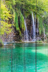 Водопады в парке Плитвицкие озера