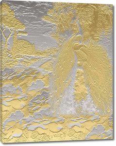 Фреска с металлическим узором