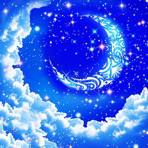 Луна с узорами