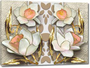 Цветы с лепестками-стрелками