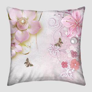 Розовые цветы с бусинками