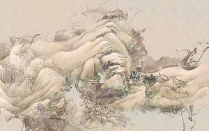 Пастельный рисунок гор
