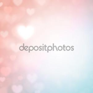 Нежный фон с сердечками