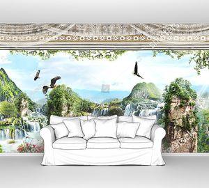Вид из окна на орлов и водопады